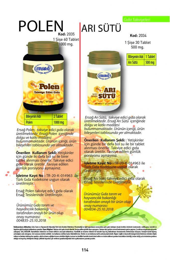 ersağ arı sütü polen